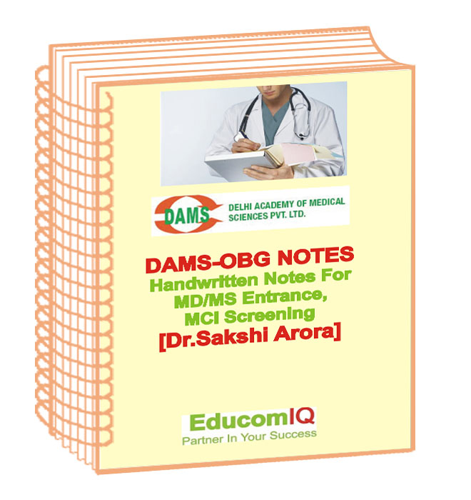 Obstetrics And Gynecology Notes By Dr  Sakshi Arora DAMS Medical PG