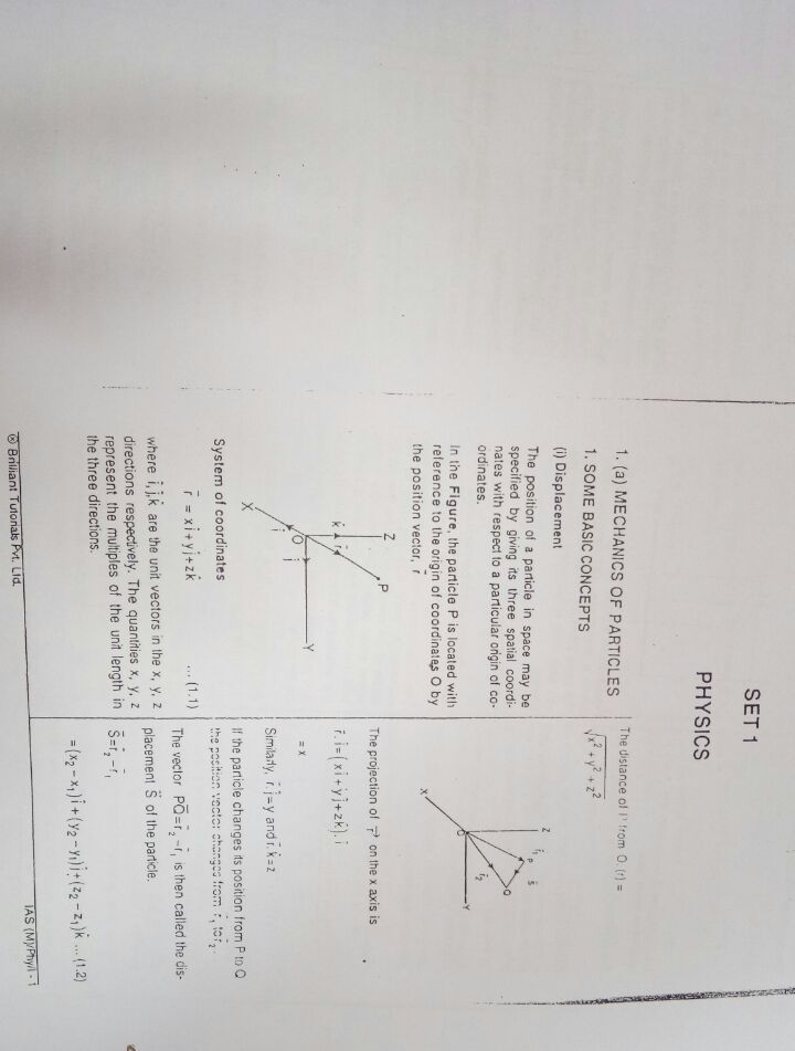 Physics Optional Printed Notes Brilliant Tutorial IAS Mains