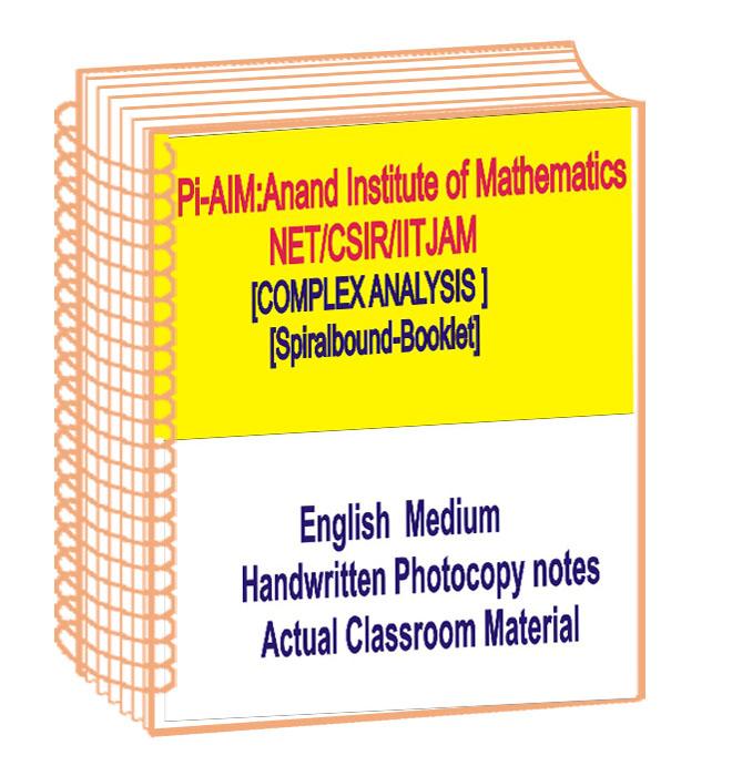 Complex Analysis Maths Handwritten Class Notes Pi AIM NET, CSIR